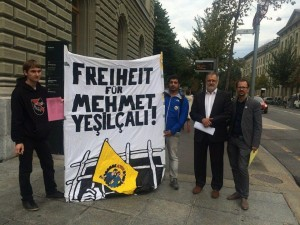 İsviçre Parlementosu Milletvekilleri Mehmet Yeşilçalı`yla dayanışmada