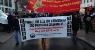 """Hamburg sokaklarında """"ATİK Tutsaklarına Özgürlük"""" sloganları!"""